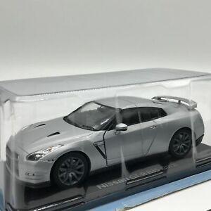 Nissan-GT-R-R35-2012-Silver-1-24-Big-Scale-Box-Mini-Voiture-Affichage-Diecast-41