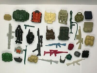 Vintage 1980s Wheeled Warriors Nine Spare Parts and Weapons Bag #1 In Very Good Vintage Condition