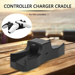 LED Controller Charger Cradle for PS5 Gamepad USB Charging Stand Station Dock