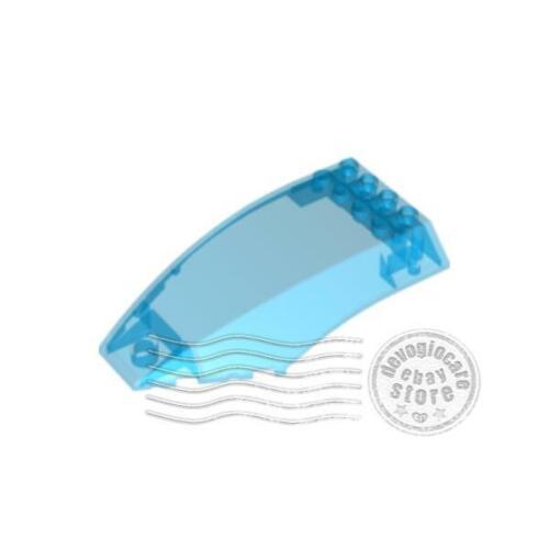 1x LEGO 45705 Parabrezza Curvo 10x6x2 Blu scuro trasparente6089633