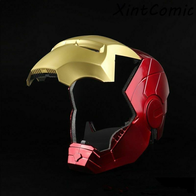 Marvel Avengers Iron Man Helmet Mask Motorcycle Iron Man Cosplay Helmet led