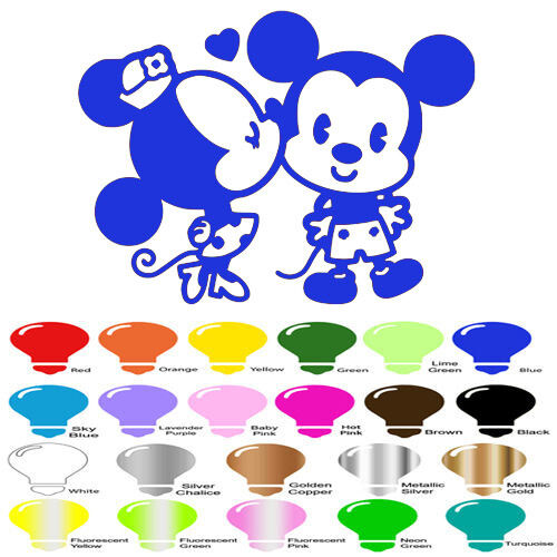 Minnie Kiss Mickey mouse Decal Sticker for Car Window Wall Decor Macbook Laptop
