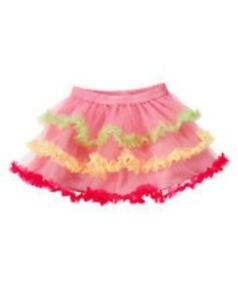 GYMBOREE-BIRTHDAY-SHOP-PINK-COLOR-RUFFLE-TIERED-TULLE-SKIRT-12-18-24-3T-4T-NWT