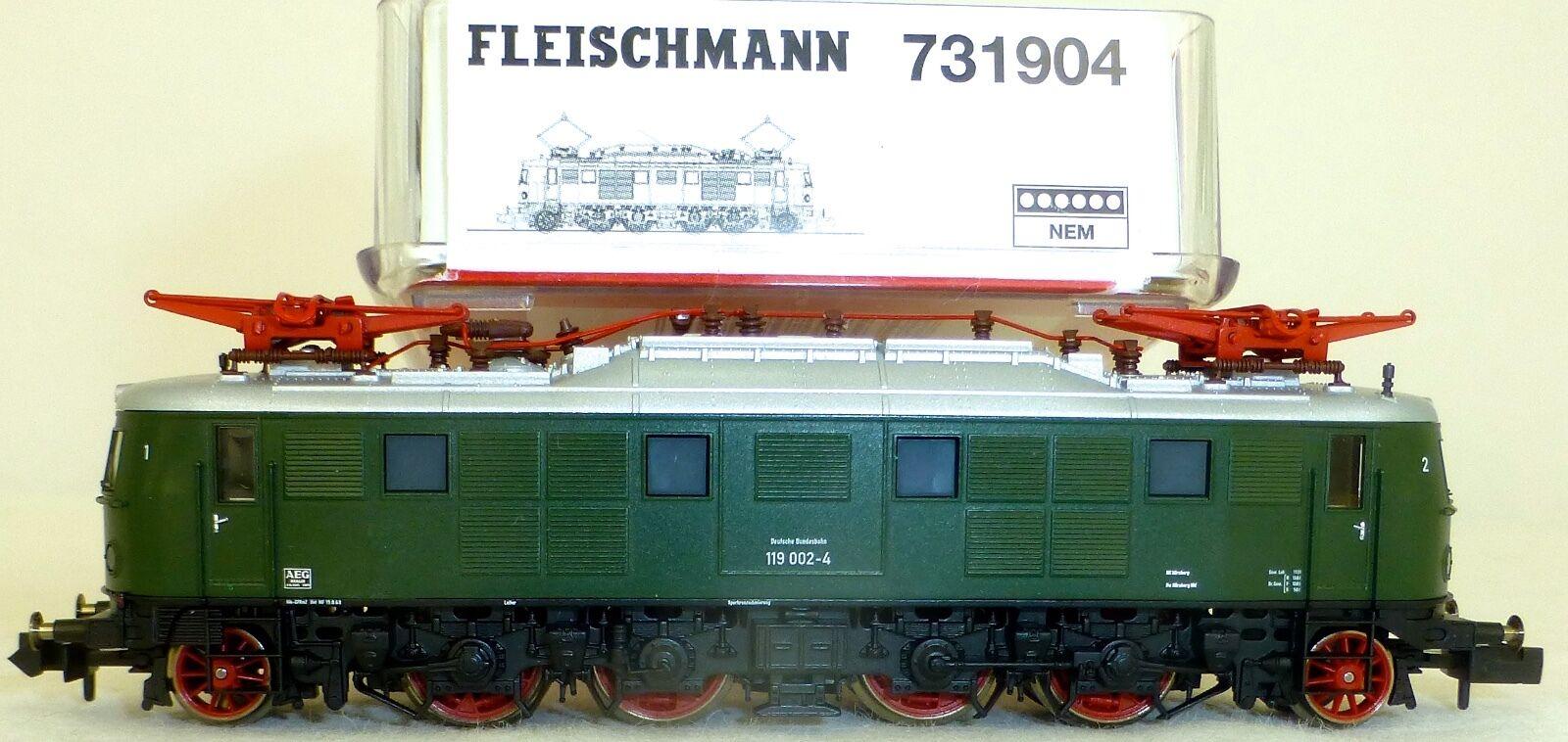 119.0 E-LOCOMOTIVE DB Ep IV DSS Fleischmann Fleischmann Fleischmann 731904 OVP H0 Neu Å 5fe9ad