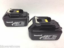 2 GENUINE Makita BL1830 NEW 18V 18 Volt LXT Lithium-Ion 3.0 Ah Battery