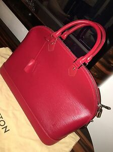 3d4d10f44c1 AUTHENTIC LOUIS VUITTON VINTAGE ALMA RED PM EPI HANDBAG,PURSE ...