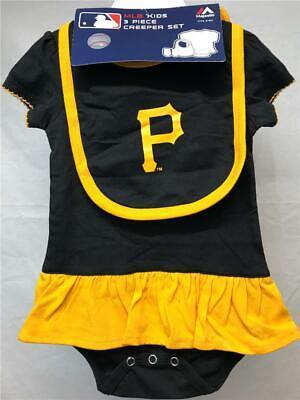 Sport Schwarz 3 Pcs Der GüNstigste Preis Neu Pittsburgh Pirates Kleinkinder Size 6/9 Months Gelbe Baseball & Softball