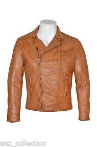 modello Fit morbida da Giacca italiana uomo Slim Brando in pelle motociclista da gPFZ8q