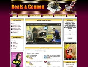 COUPONS Website For Sale. Work at Home Business Opportunity! FREE Domain Name.