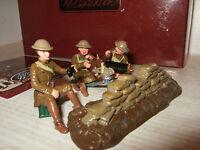 Britains 41148 Ww1 Browning Machine Gun Set Emplacement & 3 Man Us Detachment
