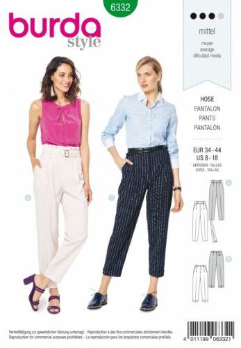 BURDA Sewing Pattern 6332 Pantaloni 8-18