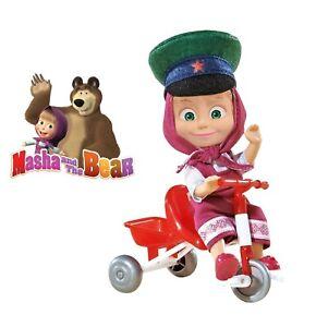 Masha-and-the-Bear-Masha-on-the-bike-SIMBA-Juguete-masha-y-el-oso-RARE-TOY