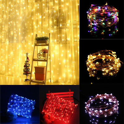 10-100LED USB Fairy Lights Copper Wire String Lights Xmas Party Decor LampUK