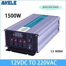1500W DC12V to AC220V Pure Sine Wave Off grid Solar Power Inverter LED Display