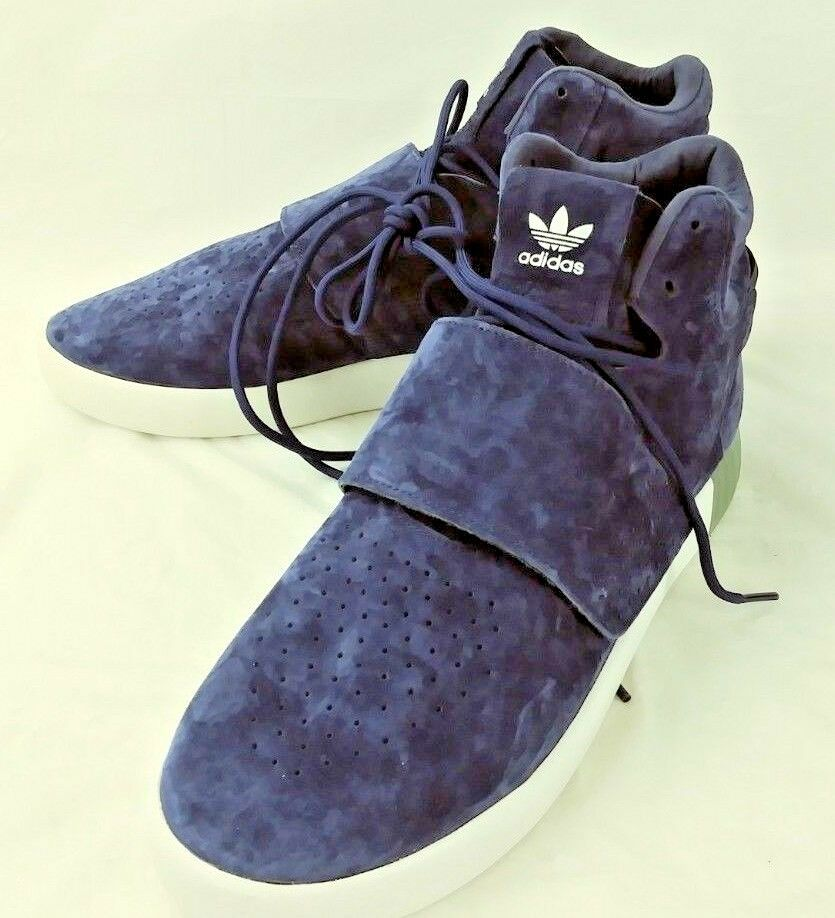 Adidas Mens shoes Sneakers Tubular 779001 US 11 bluee Suede Lace Invader New 6116