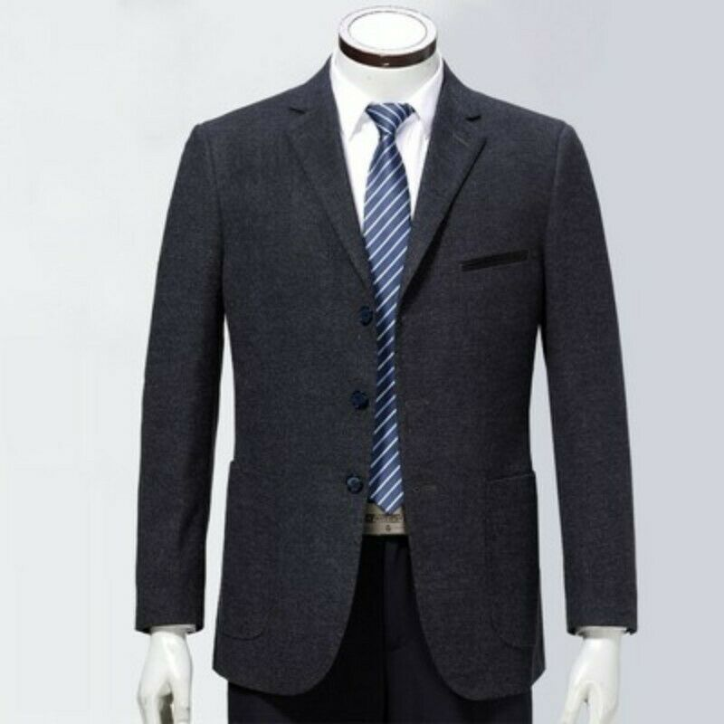 Men's Notched Collar Three Single Breasted Slim Fit Wool Leisure Suit Coat New