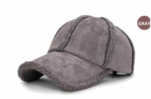Winter 2018 Thicken Warm Baseball Cap Bone Men Women Wool Sheepskin Solid Trucke