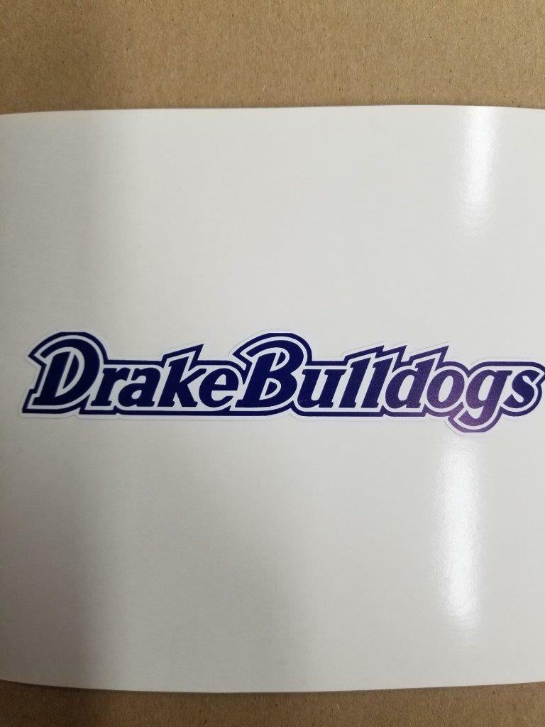 Drake Bulldogs  Cornhole board or vehicle window decal(s)DB7  80% off