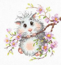 """Counted Cross Stitch Kit WONDERFUL NEEDLE 18-95 /""""I knit for sale/"""" MAGIC NEEDLE"""