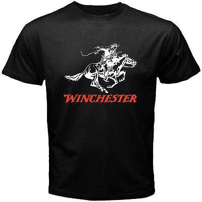 New Winchester Gun Pistols Riffle Firearms Logo Men/'s White T-Shirt Size S-3XL