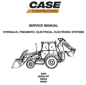 case 580n 580sn wt 580sn 590sn loader backhoe service repair rh ebay com 621d case loader service manual case 721 loader manual