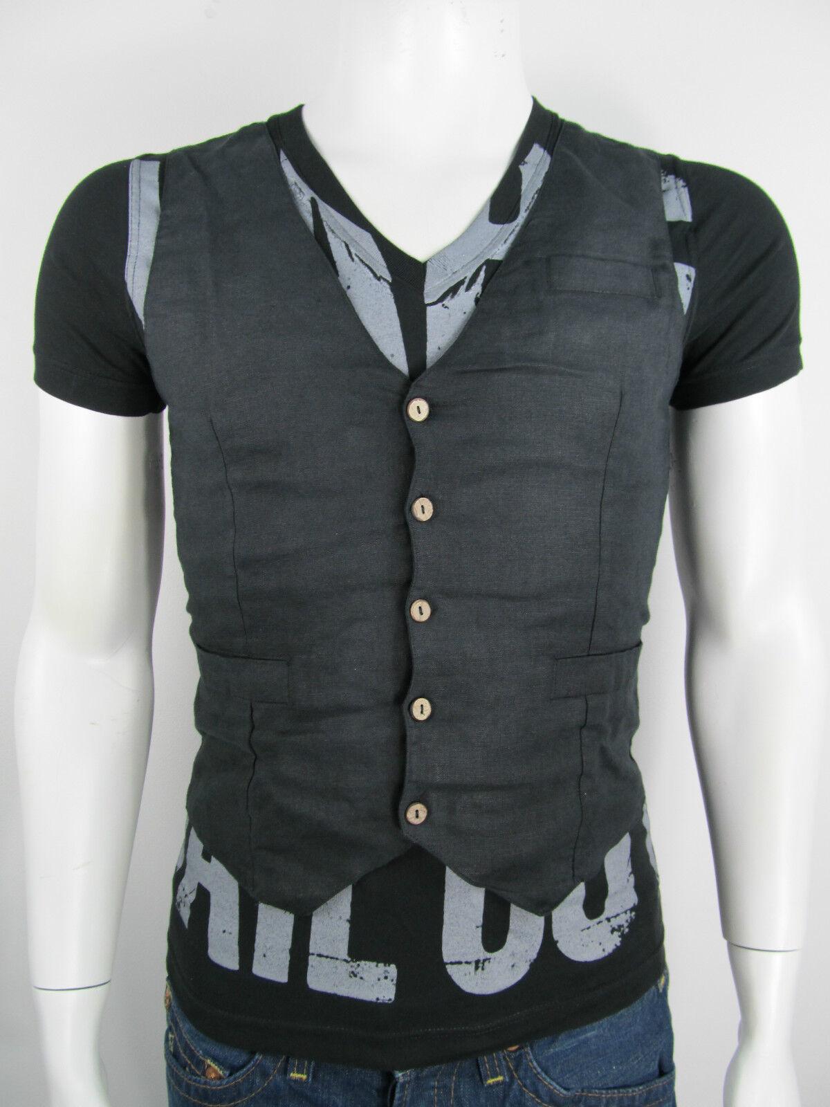Gigolo T-Shirt Gilet Shirt Tee Jer 1969 Aktuelle Kollektion -30% Gr S