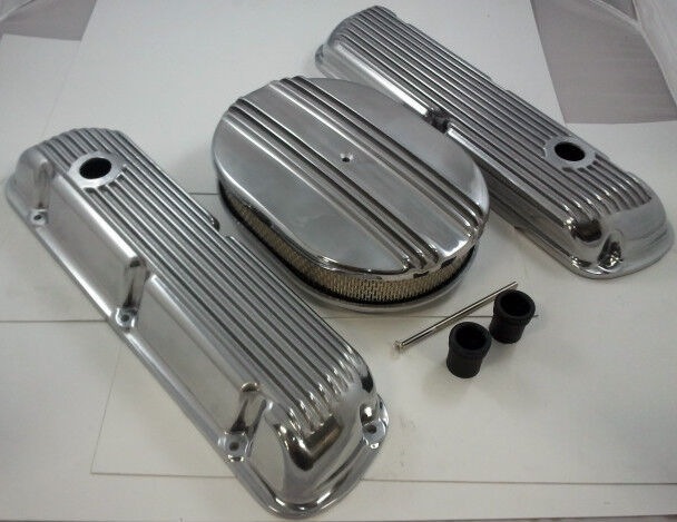 SB Ford Finned Polished  Aluminum Engine Dress Up Kit  260 289 302 351W 1962-Up