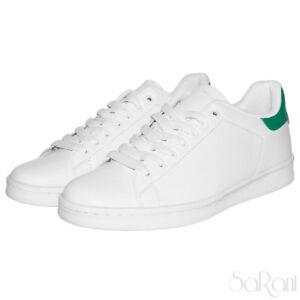 informazioni per e76b9 a8dae Dettagli su Scarpe Uomo Sneakers Basse Bianche Pelle Sportive Ginnastica  Lacci Stringhe