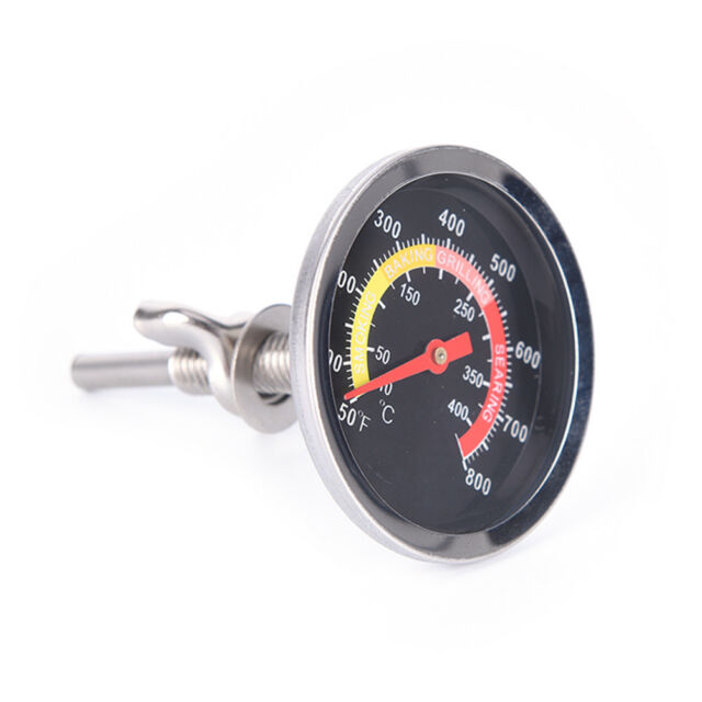 50-400℃ Barbecue Smoker Grill Stainless Steel Temperature Thermometer Gauge PENV