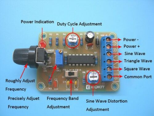 SGE-8 8038 Function Signal Generator Module Kit DIY Module DC 12V 50Hz-7KHz 9mA