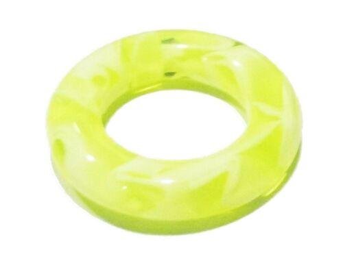 "Segment Captifs Bague Heavy Gauge 4 5//8/"" Marbre Vert Lime UV acrylique body jewel"