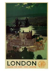 A3 London GWR Railway 1947 Travel VINTAGE RETRO Posters Print Old Style #12