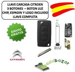 LLAVE-CARCASA-CITROEN-C2-C3-C4-C5-C6-V1-VA6-VA2-LUZ-CHIP-ID46-433MHZ-3-BOTONES