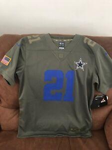 Nike Salute To Service Ezekiel Elliot Dallas Cowboys Nfl Jersey NWT ... 320e8cffa
