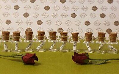 10 X Mini Vetro Messaggio In Una Bottiglie, Matrimonio Favore, Grazie Regalo, Bomboniera.-g Favour, Thank You Gift,keepsake. It-it Mostra Il Titolo Originale