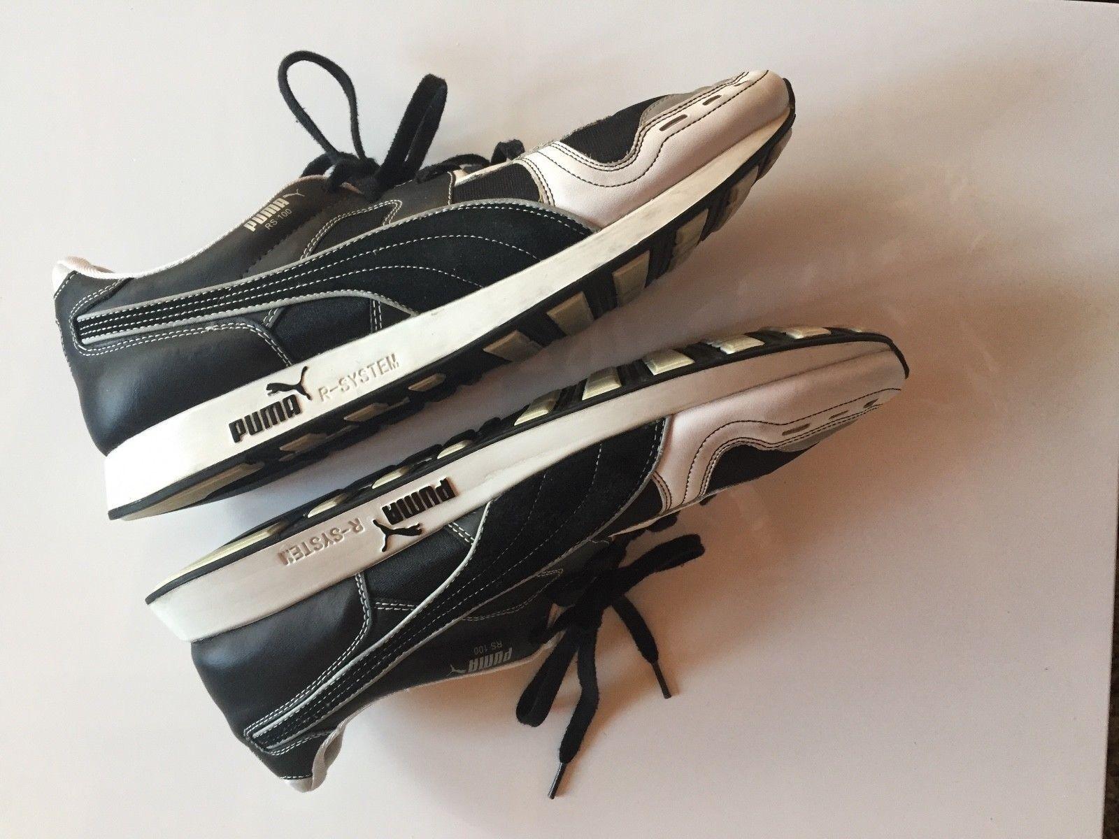 Puma RS 100 Herren Schuhe, Sneaker ,Farbe weiss / schwarz /  Größe EUR 51 / schwarz UK 15 edb575