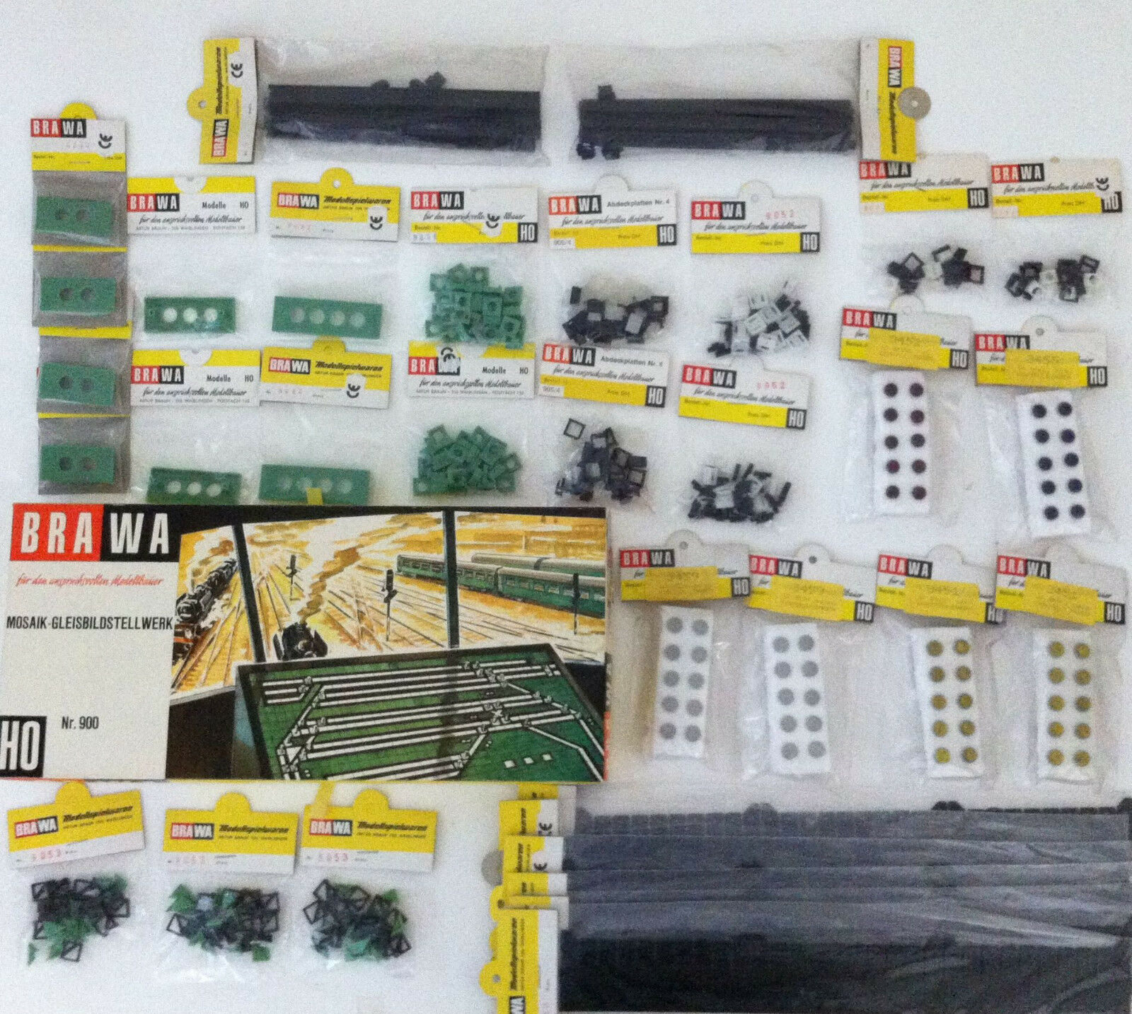 BRAWA XXL-binario immagine-stellwerkset n. 900 + accessori supplementare OVP