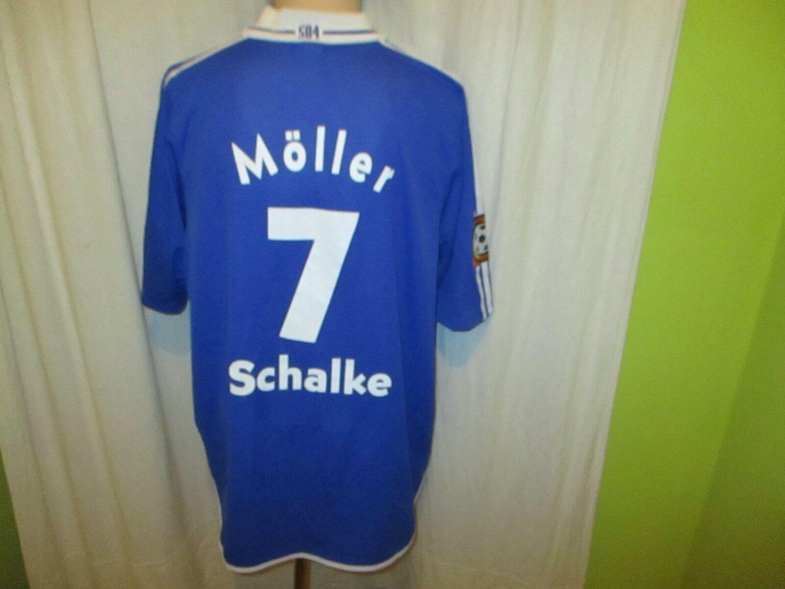 FC Schalke 04 Adidas Meister der Herzen Heim Trikot 00 01 + Nr.7 Möller Gr.XXL  | Spielzeugwelt, glücklich und grenzenlos