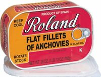 Roland Anchovy Flat Fillets In Olive Oil, 28-oz- 2 Pack