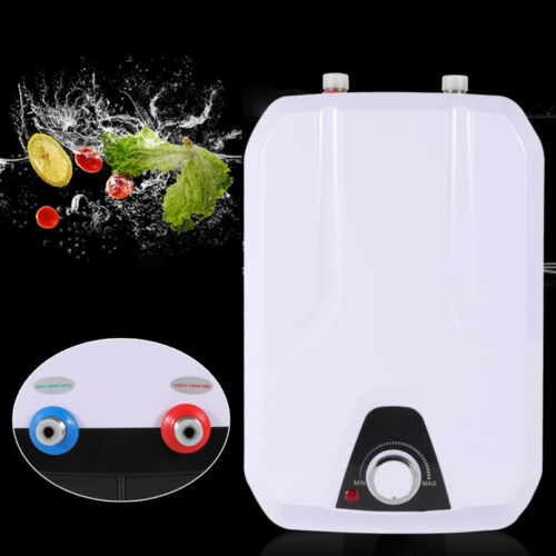 110V 8L Electric Tankless Hot Water Heater Kitchen Bathroom Home 55℃-70℃ SALE