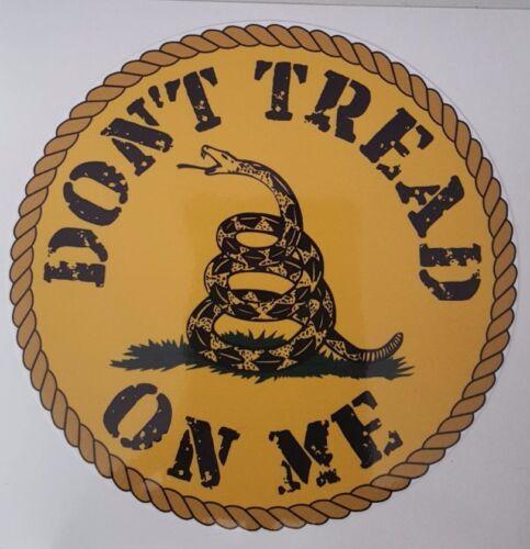 "2 Dont Tread On Me Gadsden Flag ROUND Vinyl Decal Sticker 2 3//4/"" Set of"
