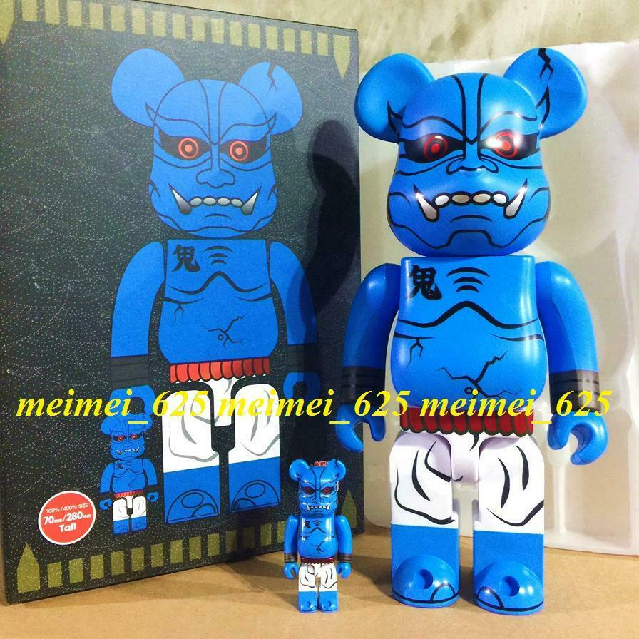 Bearbrick Medicom 2019 Play Studio bluee Oni Shinobu 100% 400% Akaoni Be@rbrick