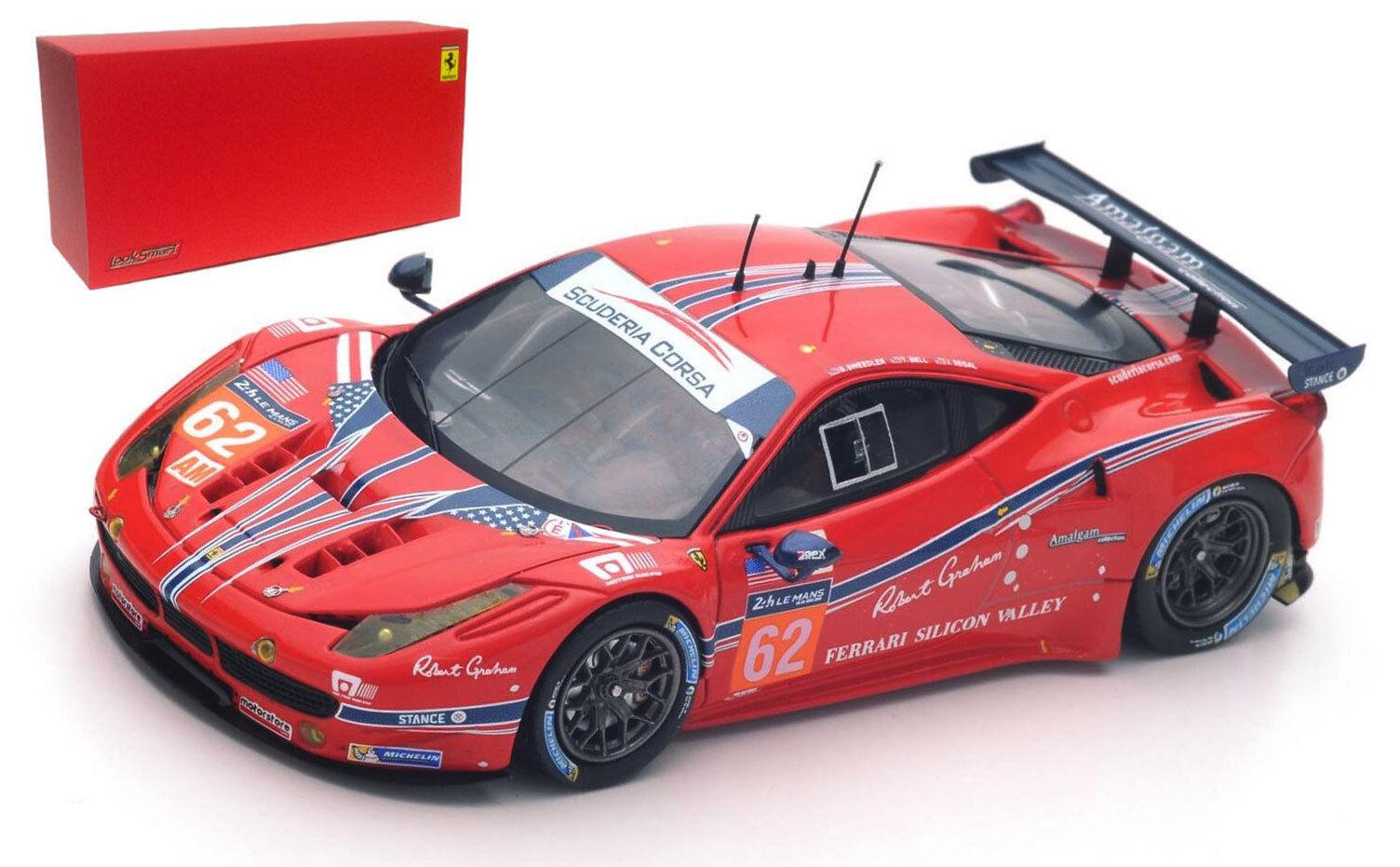 LookSmart Ferrari 458 Italia  62 clase ganador LM GTE AM LE MANS 2016 -1 43 Escala