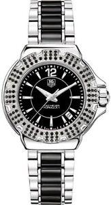3c756f7cb9e6 Tag Heuer Formula 1 Quartz Women s Black Dial Diamond Watch WAH1216 ...