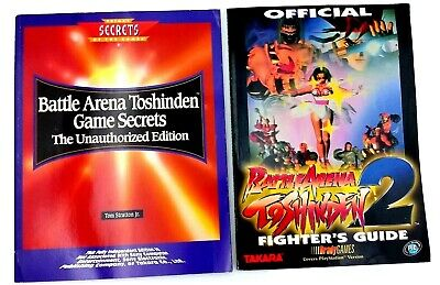 Lot Of 2 Battle Arena Toshinden Game Secrets And Toshinden 2