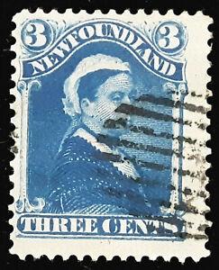 Canada-Newfoundland-Stamp-1880-82-3c-Queen-Victoria-Scott-49-SG47a-Used