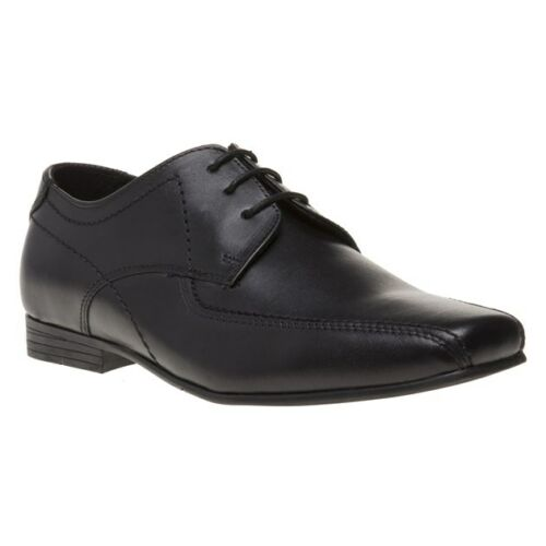 New Boys Red Tape Black Rode Leather Shoes Lace Up