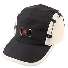 Sport Summer 5 Panel Snapback Biker Cycle Cadet Sun Cap Hat Adjustable Navy Wht