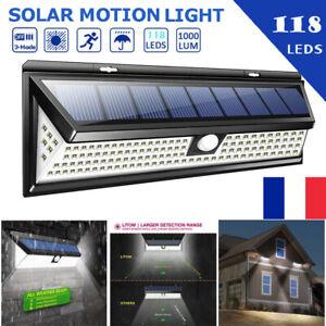 118LED-Solaire-Lampe-Lumiere-PIR-Detecteur-de-Mouvement-Exterieur-Jardin-IP65-FR