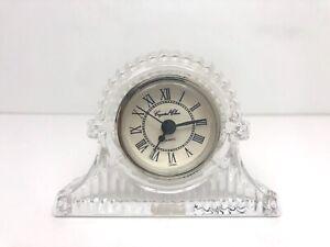 Vintage Crystal Clear Glass Quartz Battery Clock